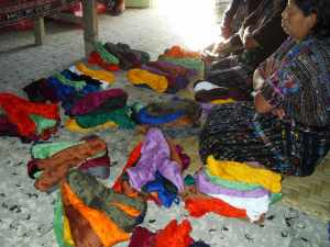 weaving yarn and supplies