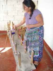Peg Table to prep yarn