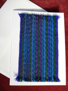Weaving on a card