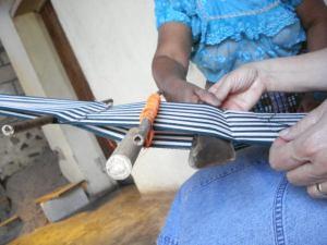 Learning backstrap weaving